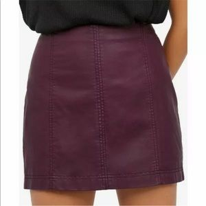 Free People Vegan Leather Skirt size 10